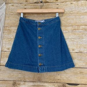 American Apparel Denim Skirt Made in USA